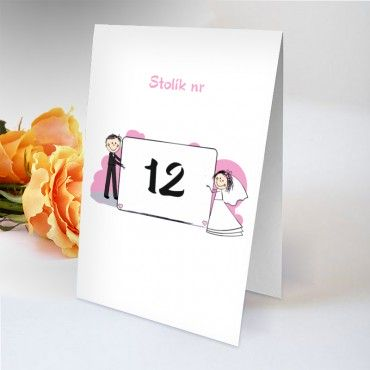 Numery stołów na wesele humorystyczne.
