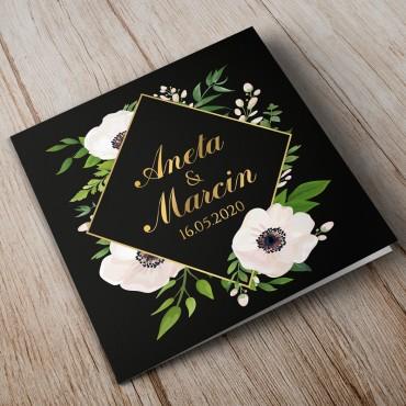 Zaproszenia Ślubne Kwiatowe nr 01a