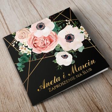 Zaproszenia Ślubne Kwiatowe nr 12a