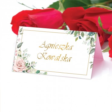 Winietki Ślubne na Stół Kwiatowe 08b