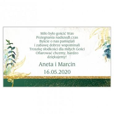 Etykiety na ciasto weselne Botaniczne 01