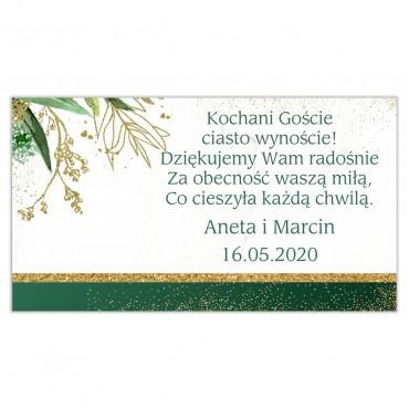 Etykiety na ciasto weselne Botaniczne 02