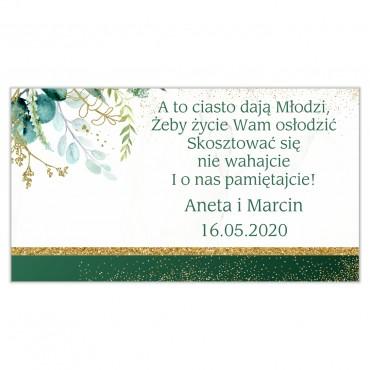 Etykiety na ciasto weselne Botaniczne 03