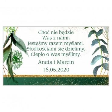 Etykiety na ciasto weselne Botaniczne 04