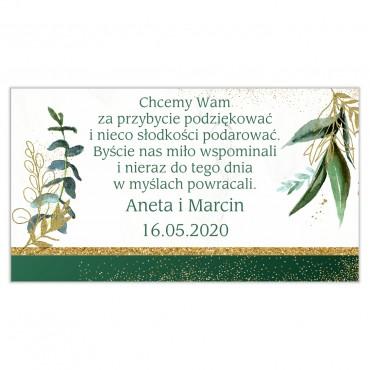 Etykiety na ciasto weselne Botaniczne 06