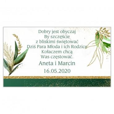 Etykiety na ciasto weselne Botaniczne 07