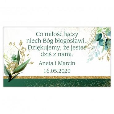 Etykiety na ciasto weselne Botaniczne 08