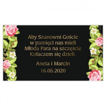 Etykiety na ciasto weselne Kwiatowe 13a