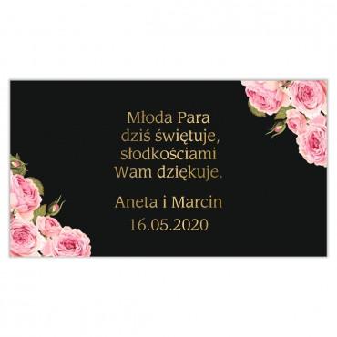 Etykiety na ciasto weselne Kwiatowe 17a