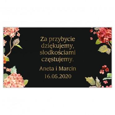 Etykiety na ciasto weselne Kwiatowe 20a