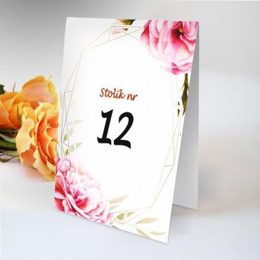 Numery stolików na wesele Boho nr 01