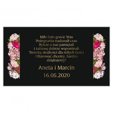 Etykiety na ciasto weselne Kwiatowe 21a