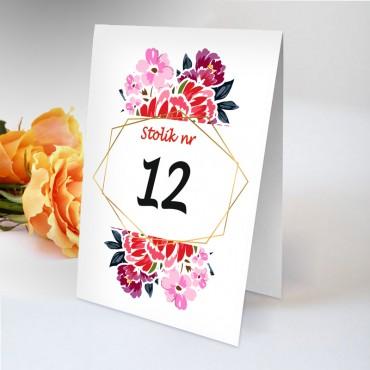 Numery stolików na wesele Boho nr 02