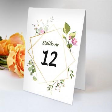 Numery stolików na wesele Boho nr 03