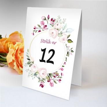 Numery stolików na wesele Boho nr 04