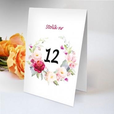 Numery stolików na wesele Boho nr 06