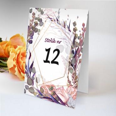 Numery stolików na wesele Boho nr 07