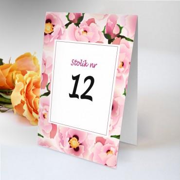 Numery stolików na wesele Boho nr 09