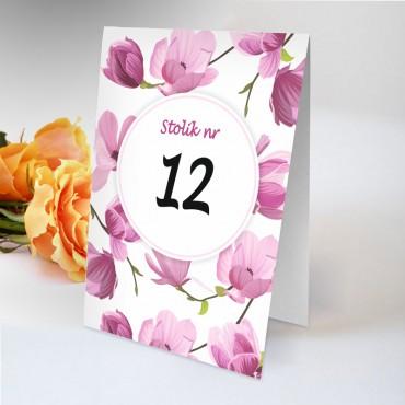 Numery stolików na wesele Boho nr 10