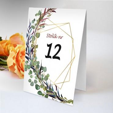 Numery stolików na wesele Boho nr 11