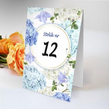 Numery stolików na wesele Boho nr 12