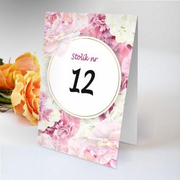 Numery stolików na wesele Boho nr 13
