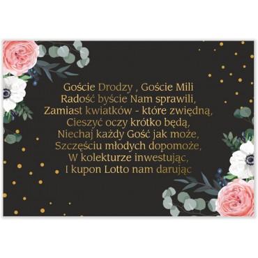 Bileciki do Zaproszeń Kwiatowe 09a