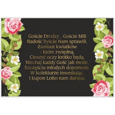 Bileciki do Zaproszeń Kwiatowe 14a