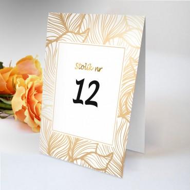Numery stolików na wesele Boho nr 15