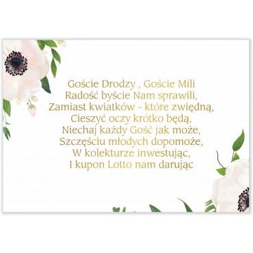 Bileciki do Zaproszeń Kwiatowe 01b