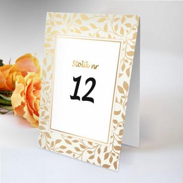 Numery stolików na wesele Boho nr 16