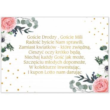 Bileciki do Zaproszeń Kwiatowe 09b