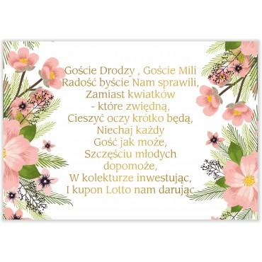 Bileciki do Zaproszeń Kwiatowe 14b