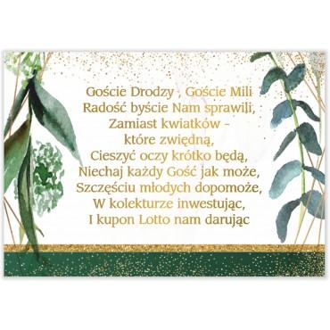 Bileciki do Zaproszeń Botaniczne 04
