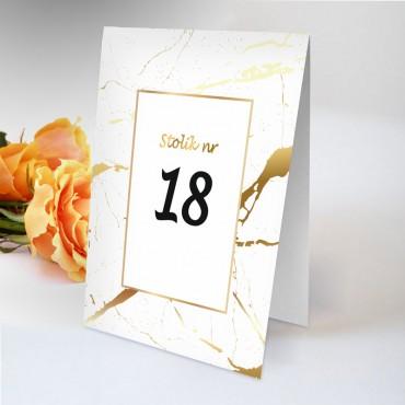 Numery stolików na wesele Boho nr 18