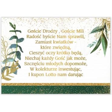 Bileciki do Zaproszeń Botaniczne 06