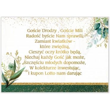 Bileciki do Zaproszeń Botaniczne 08