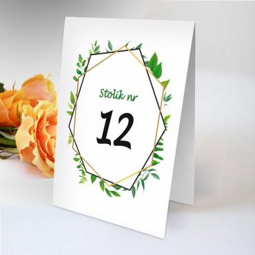 Numery stolików na wesele Boho nr 21