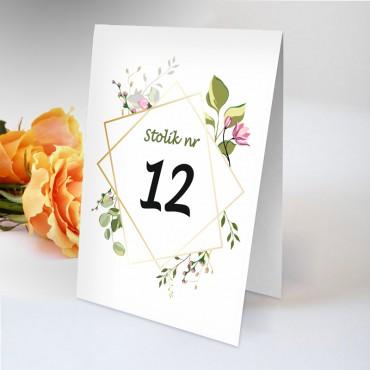 Numery stolików na wesele Boho nr 22