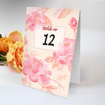 Numery stolików na wesele Boho nr 23