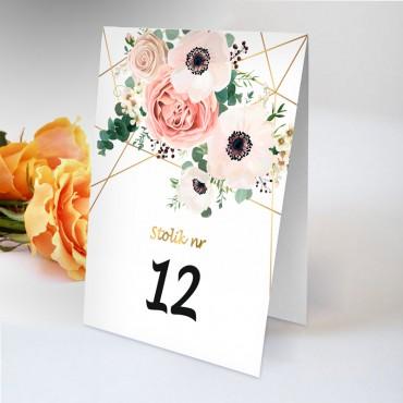 Numery stolików na wesele Boho nr 24