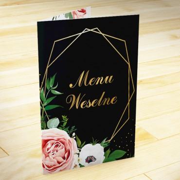 Menu weselne Kwiatowe 15a