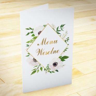 Menu weselne Kwiatowe 01b