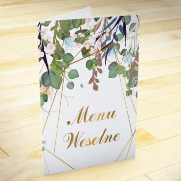 Menu weselne Kwiatowe 02b