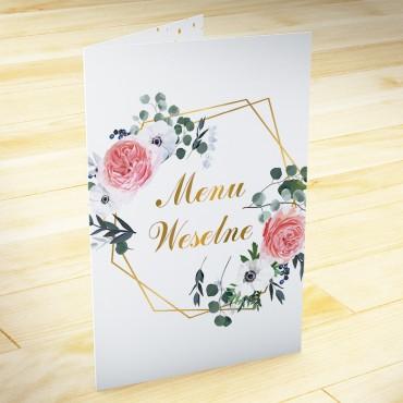 Menu weselne Kwiatowe 09b