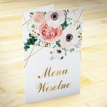 Menu weselne Kwiatowe 12b