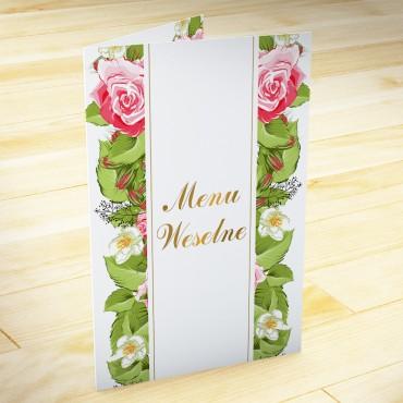Menu weselne Kwiatowe 13b