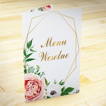 Menu weselne Kwiatowe 15b