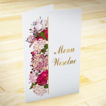 Menu weselne Kwiatowe 21b
