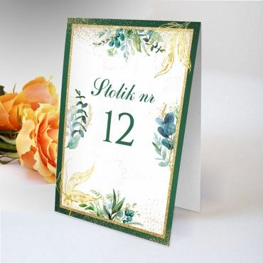 Numery stolików na wesele Botaniczne 01